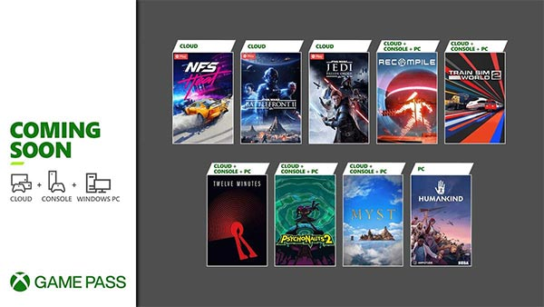 New games coming soon to Xbox Game Pass for Cloud, Console & Windows PC