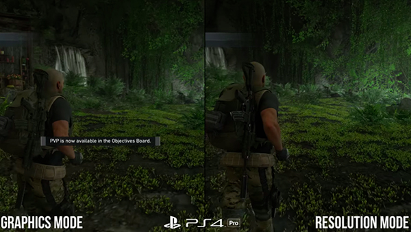 PS4 Pro Ghost Recon Comparison