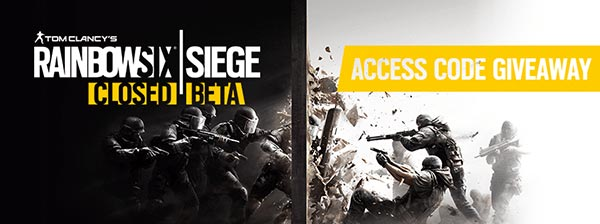 Rainbow Six Siege Close Beta Code Giveaway