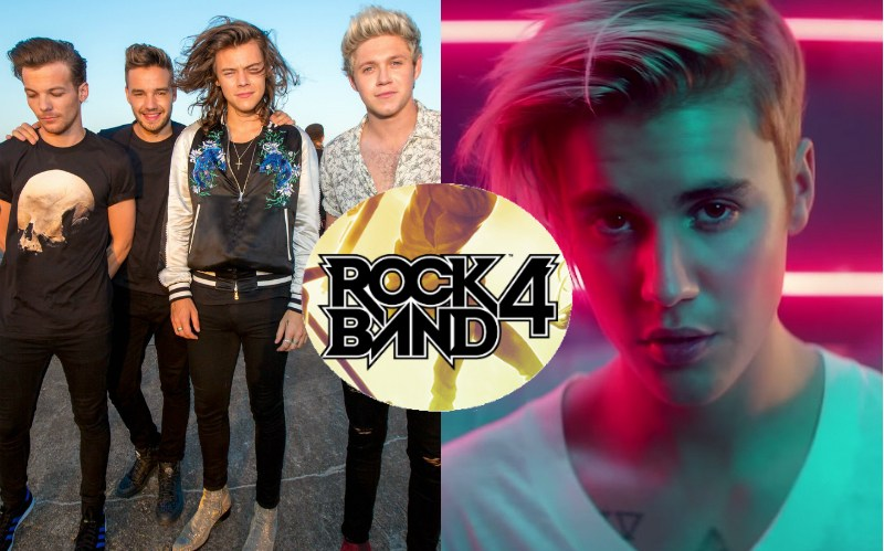 Rock Band 4 - Justin Beiber, One Direction