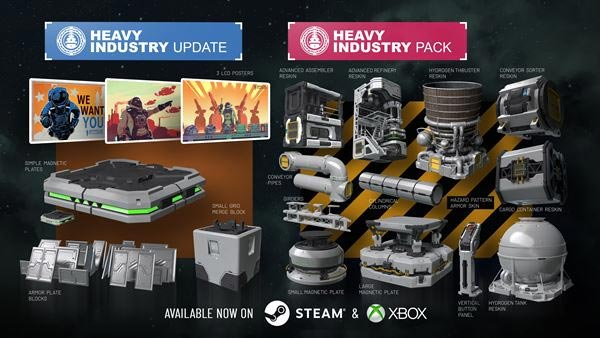 Space Engineers: Update 1.199 Heavy Industry Update is OUT NOW on XBOX and Steam