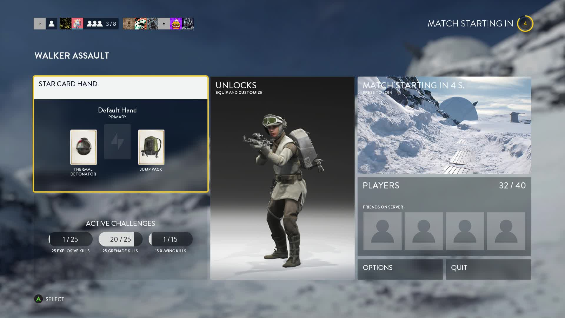 Star Wars Battlefront Star Card
