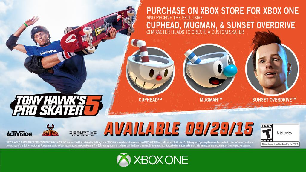 THPS5 Pre-Order Xbox One