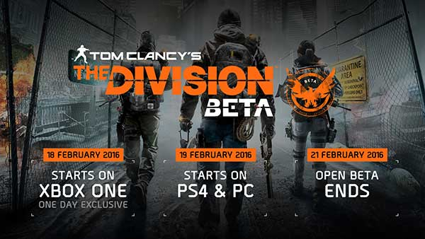 Tom Clancy's The Division Open Beta Release Date