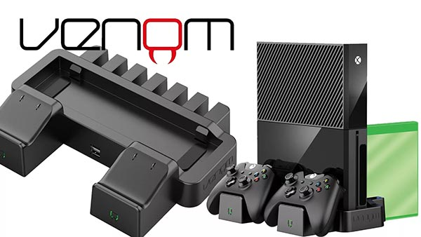 Venom Announces New Vertical Charging Stand for Use with Xbox One S and Xbox One X, Stores and Charg