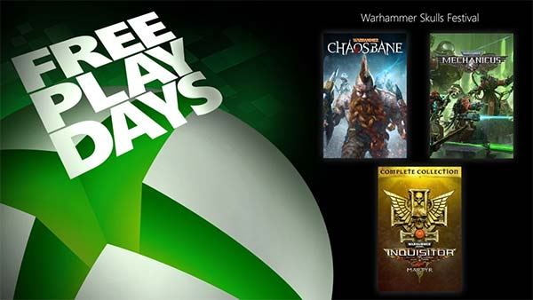 Free Play Days adds Warhammer 40K: Inquisitor Martyr, Warhammer: Chaosbane, and Warhammer 40K: Mechanicus