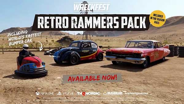 Wreckfest Retro Rammers Car Pack Is Out Today; Includies Three Smashtastic Cars