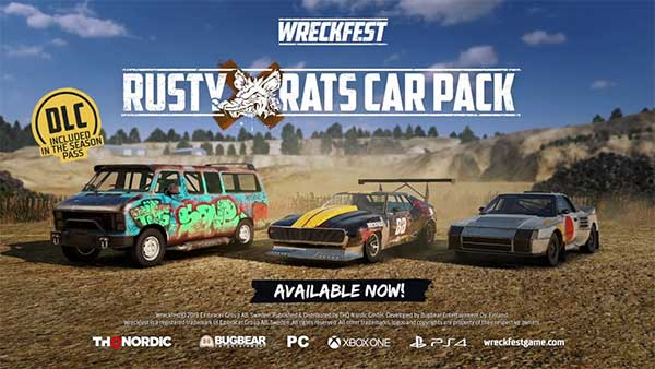 "Wreckfest's ""Rusty Rats Car Pack"" is out today on all platforms"