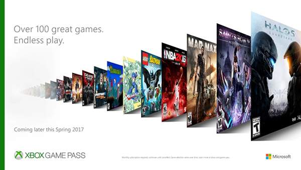 Microsoft Announces Xbox Game Pass: Unlimited Access To More Than 100 Games