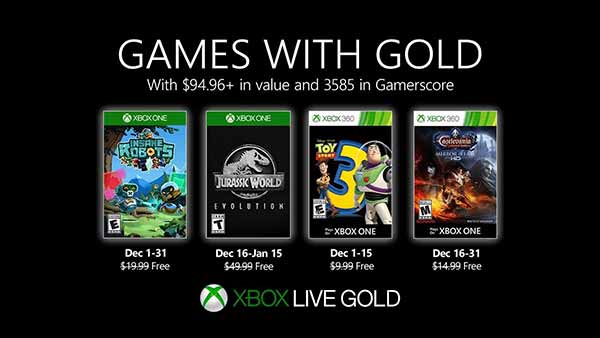 December 2019 Games With Gold for Xbox