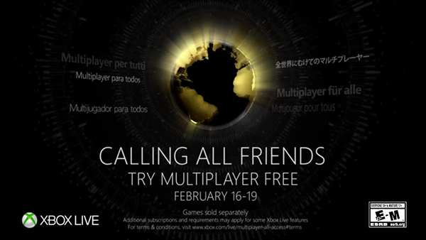 Play Xbox Live Multiplayer For FREE February 16-19