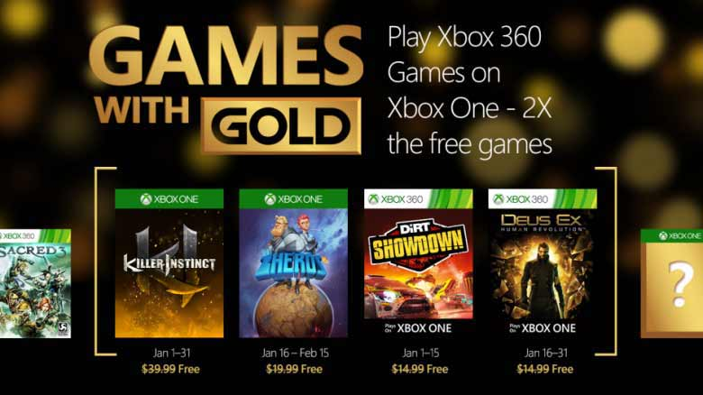 what games are free on xbox live in january