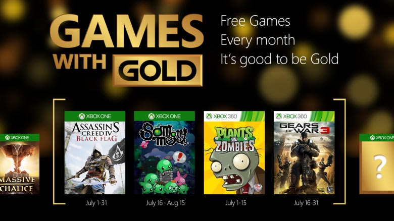 Xbox Live Games with Gold July 2015