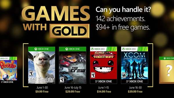 Xbox Live Games with Gold June 2016