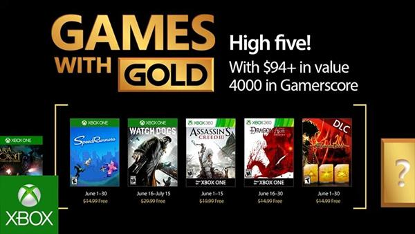 Xbox Live Games With Gold For June 2017