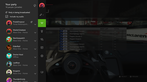 16-person Party Chat on Xbox One