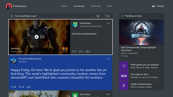 Xbox 360 Achievements in Xbox One and Xbox app Activity Feeds