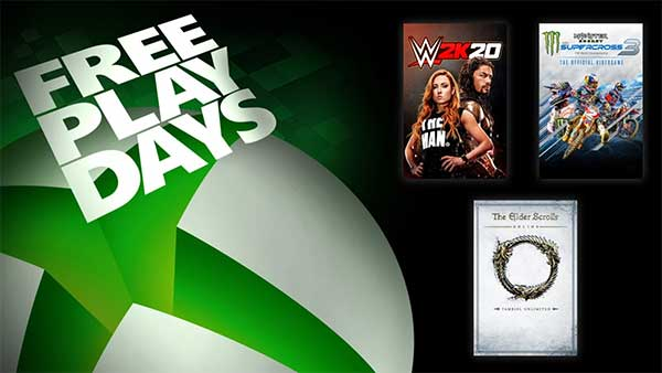 Free Play Days: WWE 2K20, Monster Energy Supercross 3 and The Elder Scrolls Online Tamriel Unlimited