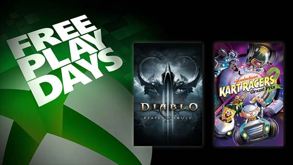 Free Play Days: Nickelodeon Kart Racers 2 and Diablo III: Reaper of Souls - Ultimate Evil Edition (Feb 25-28)