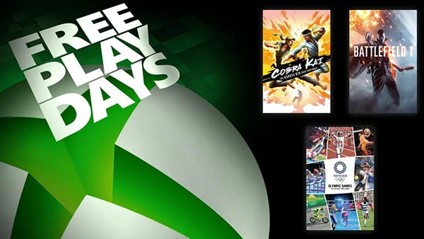 Free Play Days: Cobra Kai: The Karate Kid Saga Continues, Battlefield 1, and Olympic Games Tokyo 2020
