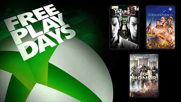 Free Play Days: Play Yakuza Kiwami, Civilization VI & For Honor For Free on Xbox One (July 23-26)