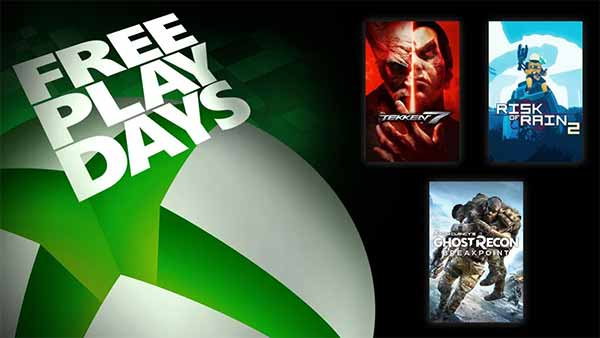 Xbox Free Play Days Includes Tekken 7, Ghost Recon Breakpoint, and Risk of Rain 2 (March 26-29)