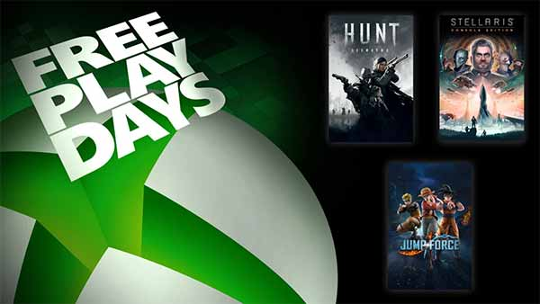 Xbox Free Play Days: Jump Force, Hunt: Showdown and Stellaris: Console Edition (May 28-31)