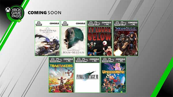 New Games Coming to Xbox Game Pass for Console and PC in August
