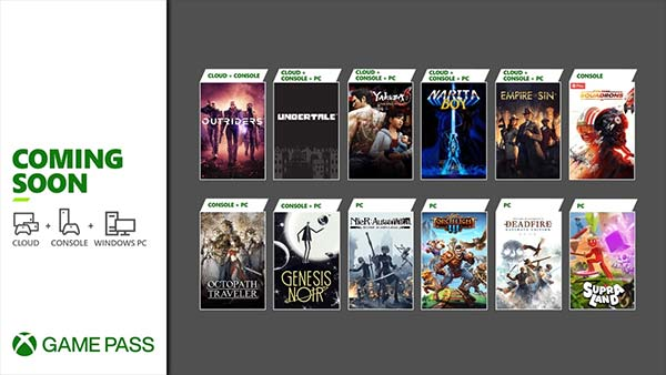 New Games Coming to Xbox Game Pass for Console, Cloud and PC In March