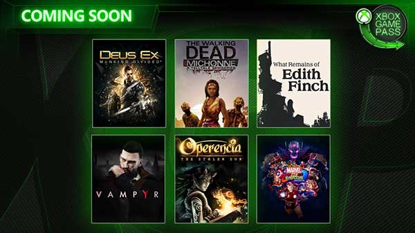 Xbox Game Pass: Operencia, Deus Ex: Mankind Divided, Vampyr And More Coming In March
