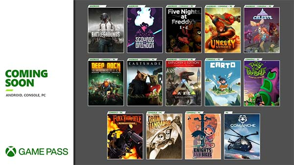 Games Coming Soon on Xbox Game Pass for Android, Console and PC