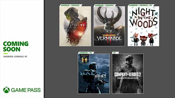 Games Coming Soon to Xbox Game Pass for Android, Console and PC