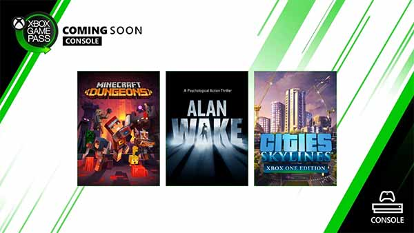 Alan Wake, Cities: Skylines & Minecraft Dungeons are heading to Xbox Game Pass for Console