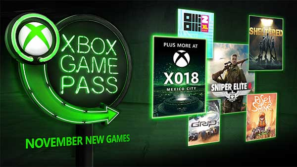 Xbox Game Pass adds Sniper Elite 4, Olli Olli 2 XL, Sheltered, and More in November