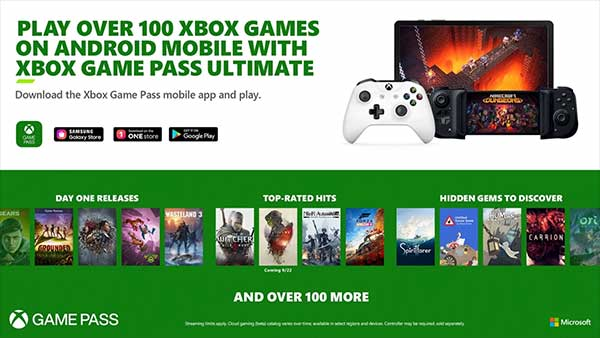 Xbox Game Pass Ultimate for Andoird Mobile Devices