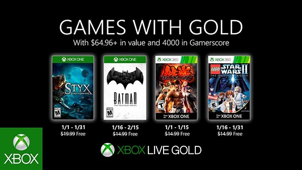 Xbox Games With Gold January 2020 Free Games Announced