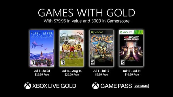Xbox Games With Gold July 2021