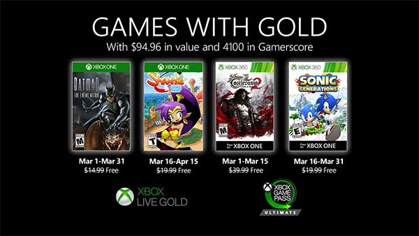 Xbox Games With Gold (March 2020)