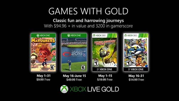 Games With Gold: Xbox Games With Gold For May 2018 Announced