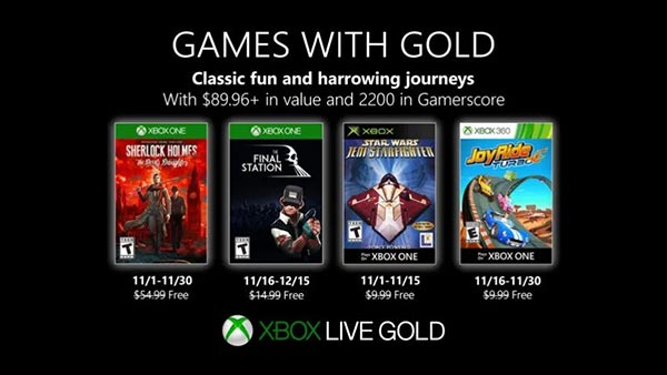 Xbox Games With Gold November