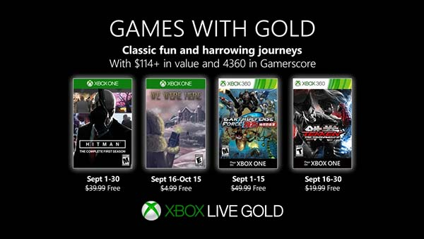 Microsoft announces Xbox Games With Gold lineup for September 2019