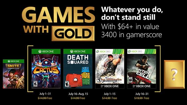 Xbox Live Games with Gold for July 2018