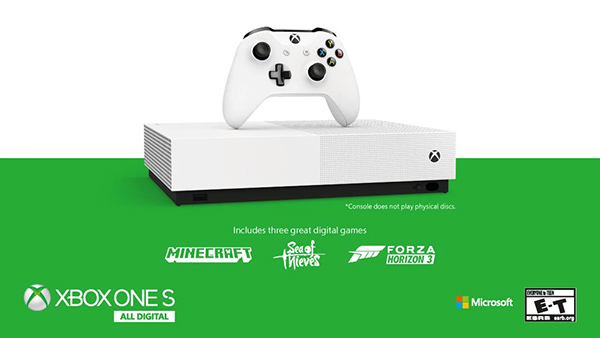 Microsoft Xbox One S All-Digital Edition Release Date, Price and Pre-order Details Announced