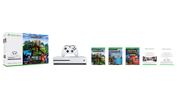 Xbox One S Mincraft Complete Adventure Bundle
