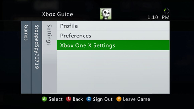 Xbox One X Enhanced Xbox 360 Guide