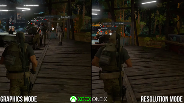 Ghost Recon Xbox One X Comparison