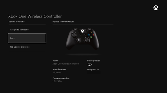 Update Xbox One Controller Firmware